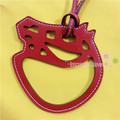 Famous Designer Fashion Animal Horse Cowhide Genuine Leather Keychain Women Designer Bag Charm Luxury Bag Accessories Pendant