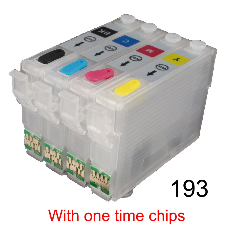 CEYE NON OEM Refillable Ink Cartridges Kit for EPSON Workforce WF 2631 2651  2661 with One Time Chips 193-in Ink Cartridges from Computer & Office on ...