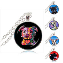 Pit Bull Dog Necklace American Pitbull Terrier Pet Puppy Rescue Pendant Bulldog Jewelry for Animal Lover Accessories