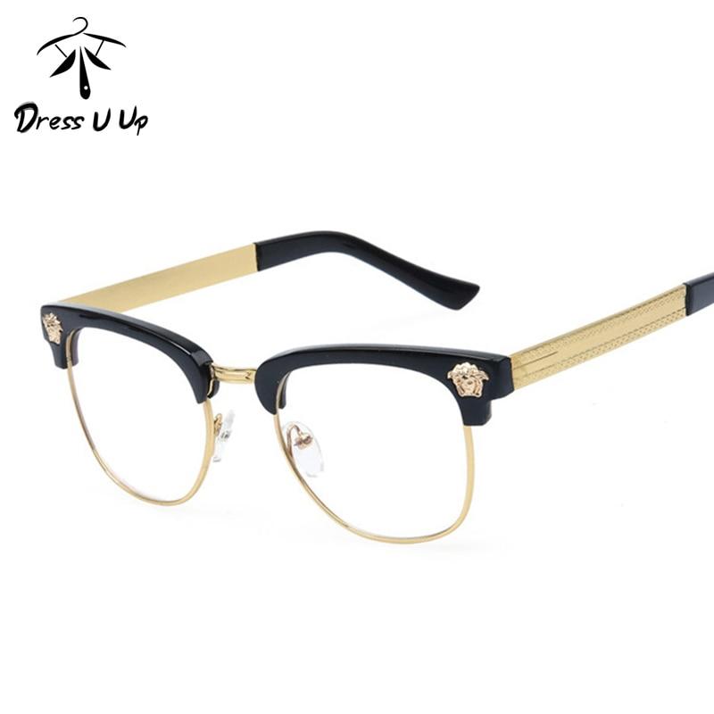 dressuup luxury optical glasses frame women brand designer vintage classic eyeglasses frames men oculos de grau
