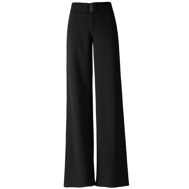 jambe Droit Femmes Large Pantalon Femelle D'hiver 2018 Drapé Nouvelle Taille Cargo Noir Haute Streetwear Et Large Automne X7qwAg
