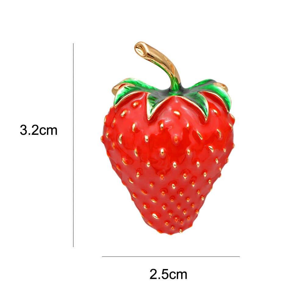 Cindy Xiang Enamel Warna Merah Strawberry Bros untuk Wanita Gaya Musim Panas Buah Aksesoris Tas, Topi, Perhiasan Pernikahan Pin Hadiah Yang Bagus