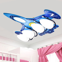 Cartoon Aircraft Chandeliers Flush Mount Lamp Kid's Room Ceiling Bedroom Lighting Family Decorative Lights Lustre Led Art Deco