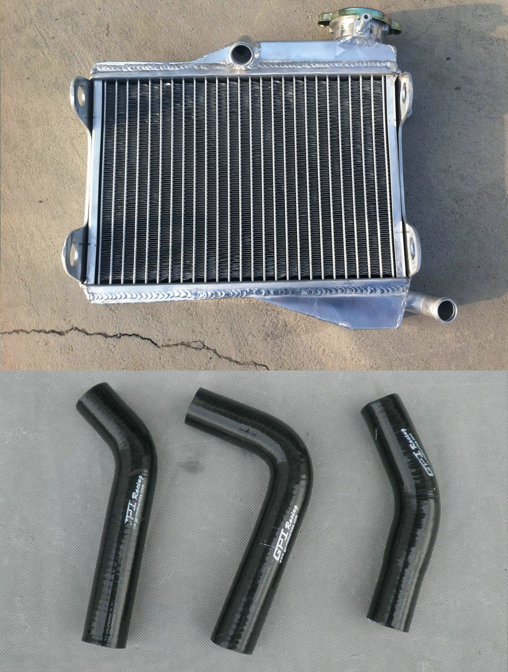 Black silicone radiator hose for YAMAHA RD250 RD350 LC 4L0 4L1