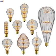IWHD estrella Bombillas Luz de Edison bombilla lámpara E27 2W 220V decoración Industrial lámpara Vintage Retro lámpara Ampul Bombillas