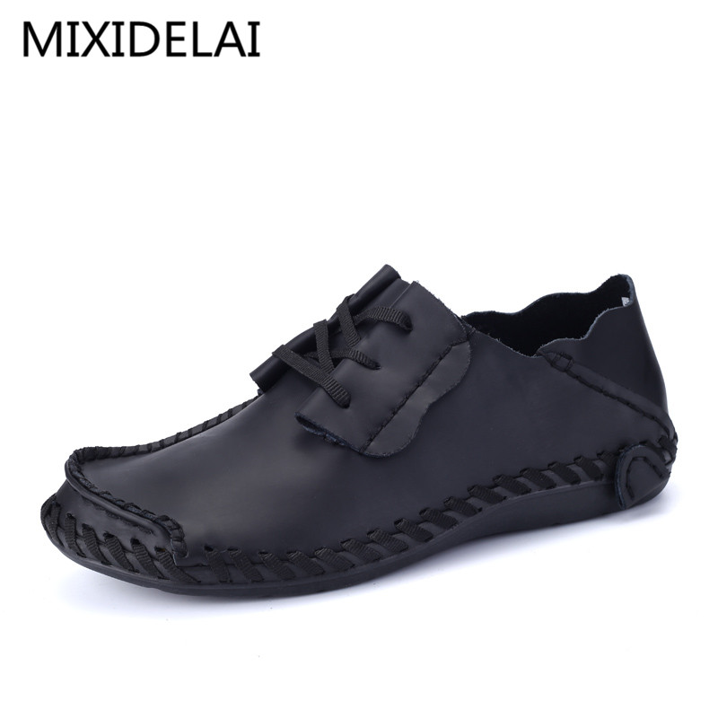 Men Leather Shoes Casual 2017 Autumn Fashion Shoes For Men Designer Shoes Casual Breathable Big Size Mens Shoes Comfort Loafers vikita girls tutu dresses long sleeve toddlers spring autumn winter dresses butterfly bow knot kids dress for girls lh4555navy