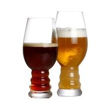 Набор из 2 17 унций бессвинцовый Хрустальный пивной стакан ручной работы выдувный пивной гольбет для семейного бара, вечерние, объем 500 мл