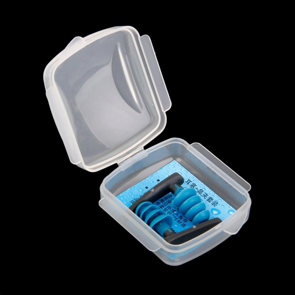 PVC Waterproof Soft Swimming Diving Ear Plug Trainning Earplugs Tool Blue For Swim Plug  Diving Pool Accessory