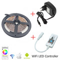 5m 10m 15m Wifi RGB LED Strip SMD 3528 Non waterproof Led Lamp +Mini RGB Wifi Controller +12V 2A 3A 5A Power Supply EU US Plug