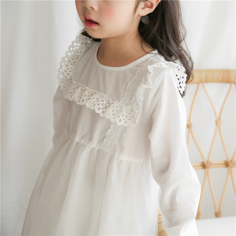 2018 Spring New Baby Dress Girls Cotton Dress Girls Mesh Dress White Toddler Clothes Children Dresses Patchwork,#2681 2018 new baby spring dress brand girls plaid dress fashion children dress toddler cotton dress parent child clothes 2636