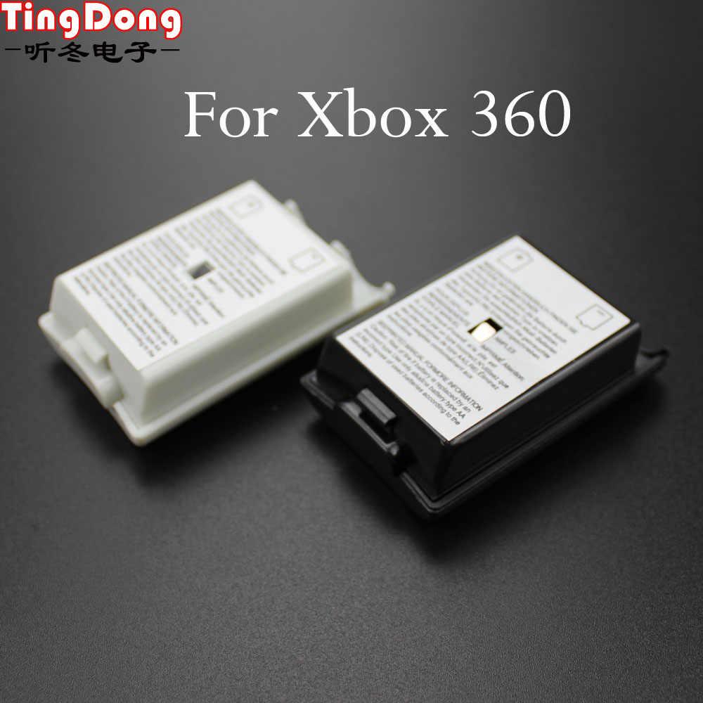 AA Pil Kapağı Kapı Xbox 360 Kablosuz Denetleyici Siyah Beyaz Renk Case Arka Shell Paketi Kiti Için Xbox360 Gamepad joystick