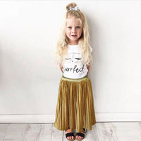 2017 Hot Selling Toddler Kids Skirt Baby Girls Solid Color Elastic Little Princess Costume Long Skirts
