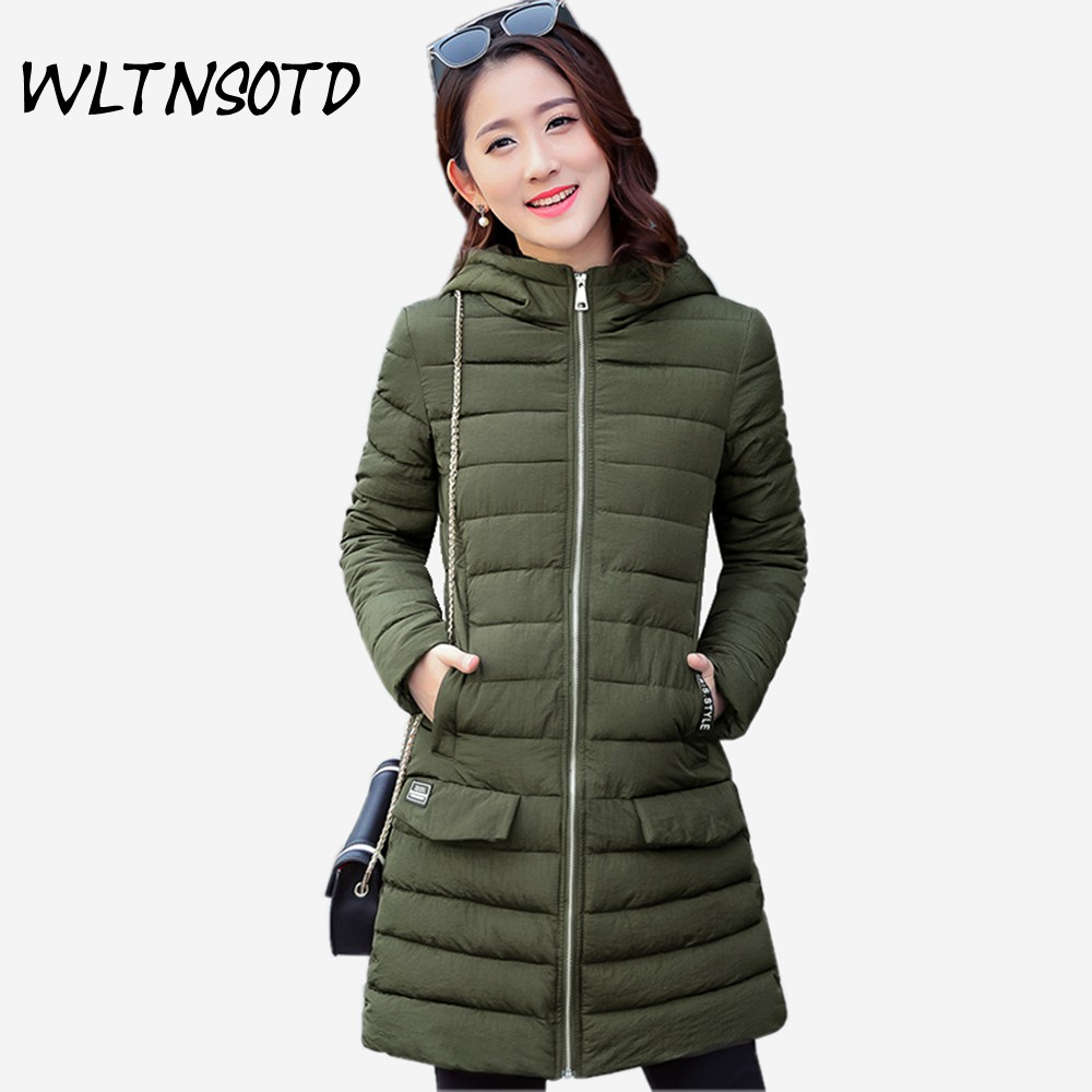 2017 winter new womene long Slim Large size  fashion Hooded warm jacket Female Solid cotton coat Parkas overdress 2017 limited full zipper solid winter new cotton jacket women slim hooded large fur collar female fashion warm parkas overdress