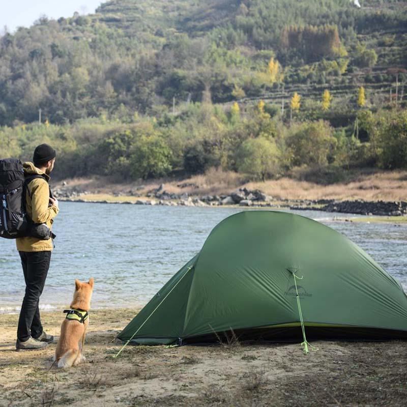 Naturehike Cloud Up Series – Tente imperméable ultra-légère, camping, randonnée, en plein air, sac à dos, avec tapis gratuit, nylon 20D 4