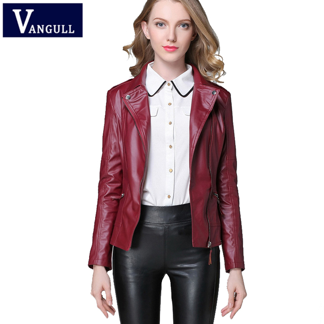 c4f579b8e3d 2018 Autumn   winter Fashion Leather Jacket Women Casual Coat Motorcycle  jacket PU Leather Clothing Plus size Ladies Outwear