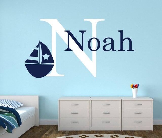 Personalisierte Name Nautischen Baby Room Decor Wandaufkleber Anker ...