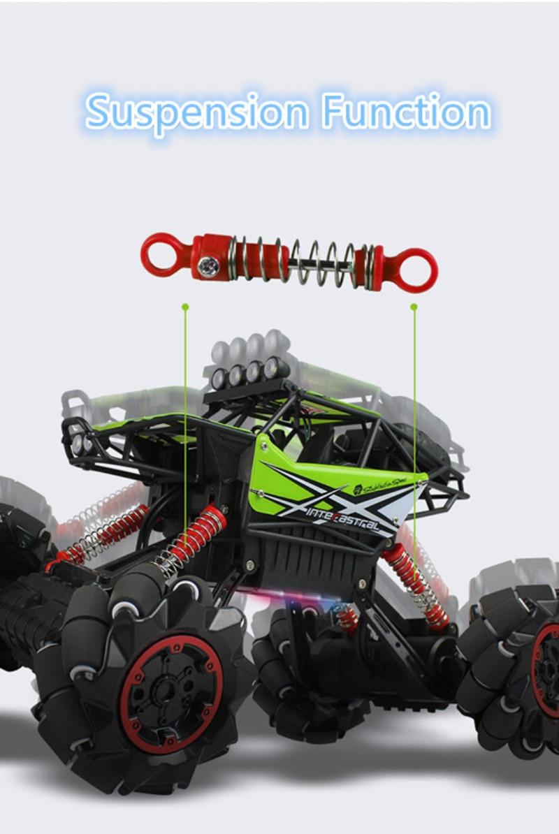 2.4G 4WD Subida Rc Deriva Carro de Controle Remoto off road monstro RTR Buggy De carro de corrida brinquedo Do Carro Deriva com o pé música luz presente para - 5