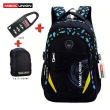 MAGIC UNION Children School Bags Brand Design Child Backpack In Primary School Backpacks Mochila Infantil Zip + Lock + Raincover