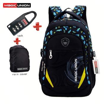 MAGIC UNION Children School Bags Brand Design Child Backpack In Primary School Backpacks Mochila Infantil Zip + Lock + Raincover new style school bags for boys