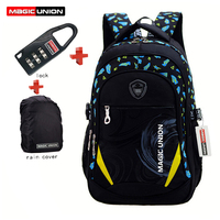 MAGIC UNION Children School Bags Brand Design Child Backpack In Primary School Backpacks Mochila Infantil Zip