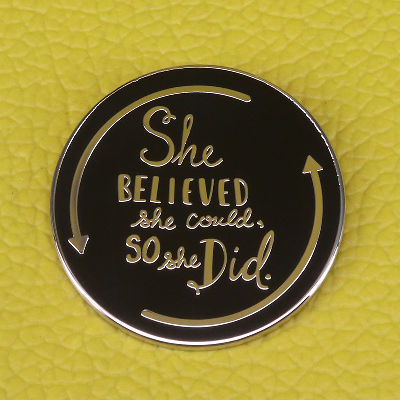 She believed she could so she did Pin Gift for Graduation inspiring Badge for Women and Girls Brooch
