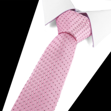 цены New Fashion Accessories Necktie High Quality 7.5cm Men's ties for suit business wedding Casual Black Red Pink Plaid