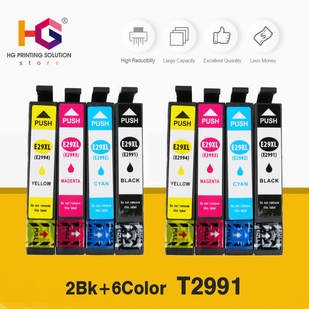 Replacement 8PCS 29 29XL T2991XL T2991 For <font><b>Epson</b></font> ink Cartridges XP235 XP247 XP245 XP332 XP335 XP342 <font><b>XP345</b></font> XP435 XP432 XP442 image