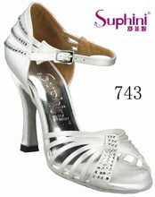 Free Shipping Hot Sale Woman Wedding Bridal Shoes , White Latin Salsa Dance Shoes