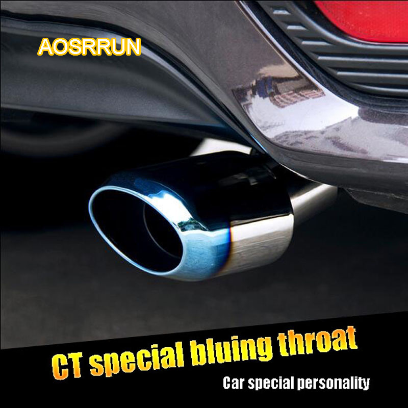 AOSRRUN Stainless steel exhaust pipe modified tail throat bluing silencer Suitable for Lexus CT200H CT200H 2012-2015 high quality 1 to 2 dual pipe stainless steel modified car rear tail throat for bmw 640