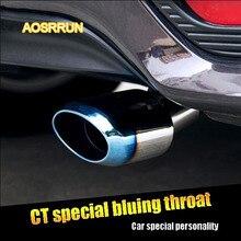 AOSRRUN In acciaio inox tubo di scarico modificato coda gola brunitura silenziatore Adatto per Lexus CT200H CT200H 2012-2015