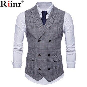 Sleeveless Male Waistcoat Slim Fit Vest Waistcoat