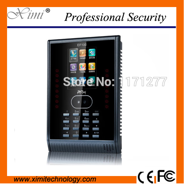 EF100 free software TCP/IP communication time clock two colors select  biometric face  time attendance