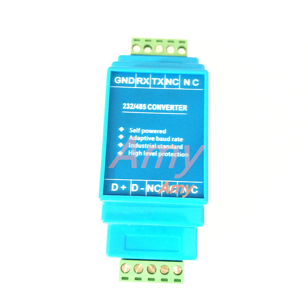 Industrial grade RS232 to RS485 converter passive adapve baud rate self conductance rail installaon
