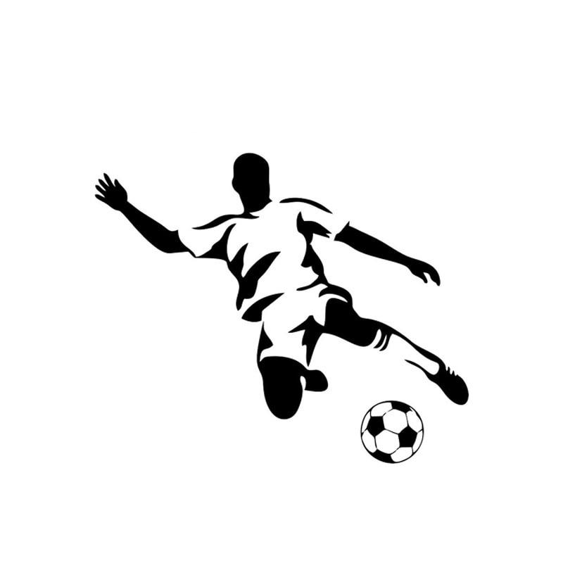 cartoon football sports stickers decals stylish silver 8cm styling vinyl c7