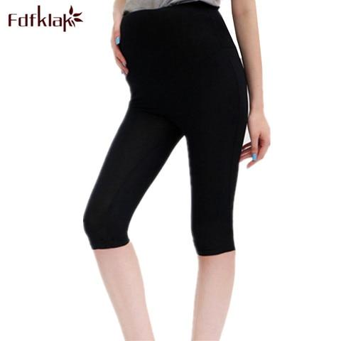 fdfklak ropa mujer 2018 nova gravidez roupas de verao calcas de maternidade modal mulheres leggings