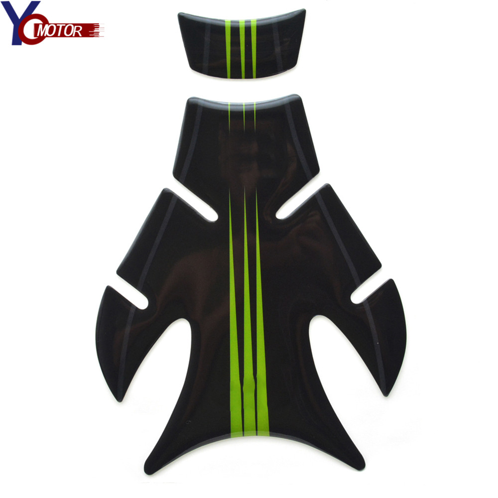 FOR ZX1400 ZX6R 650R ER6N 3D Motorcycle Decal <font><b>Oil</b></font> Fuel Tank Pad Protector Racing Sticker for Kawasaki <font><b>Ninja</b></font> EX 250 300 <font><b>400</b></font> ZX10R image