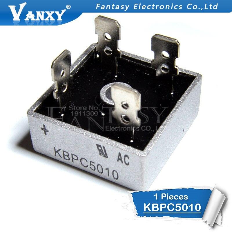 1PCS KBPC5010 1000V 50A  Diode Bridge Bridge Rectifier New And Original IC