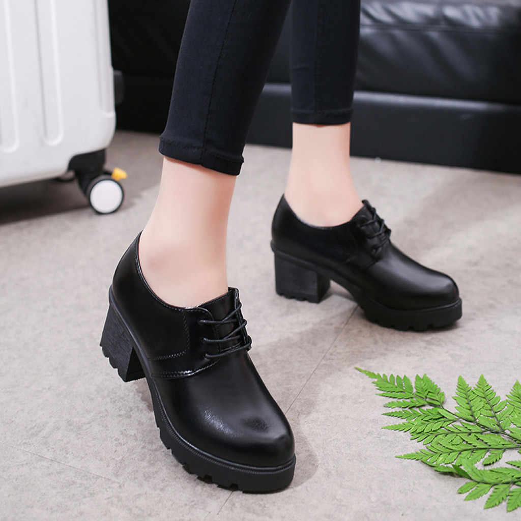 Kadın Kalın Topuklu Kalın Tabanlı Yuvarlak Kafa Öğrenci Rahat Moda Slip-On PU Deri Kadın Ayakkabı isıtıcı Yürüyüş Kar Botları