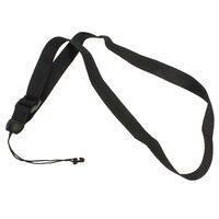 8X Adjustable Nylon Ukulele Strap Band Ukulele More Nylon Strap with Hook Black
