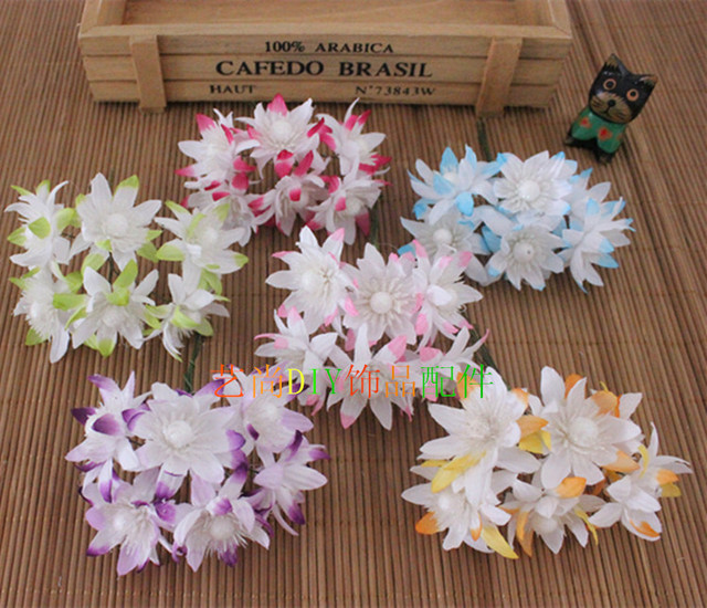 4cm Silk Lotus Flower Fabric Artificial Lotus Flowers Bouquets With