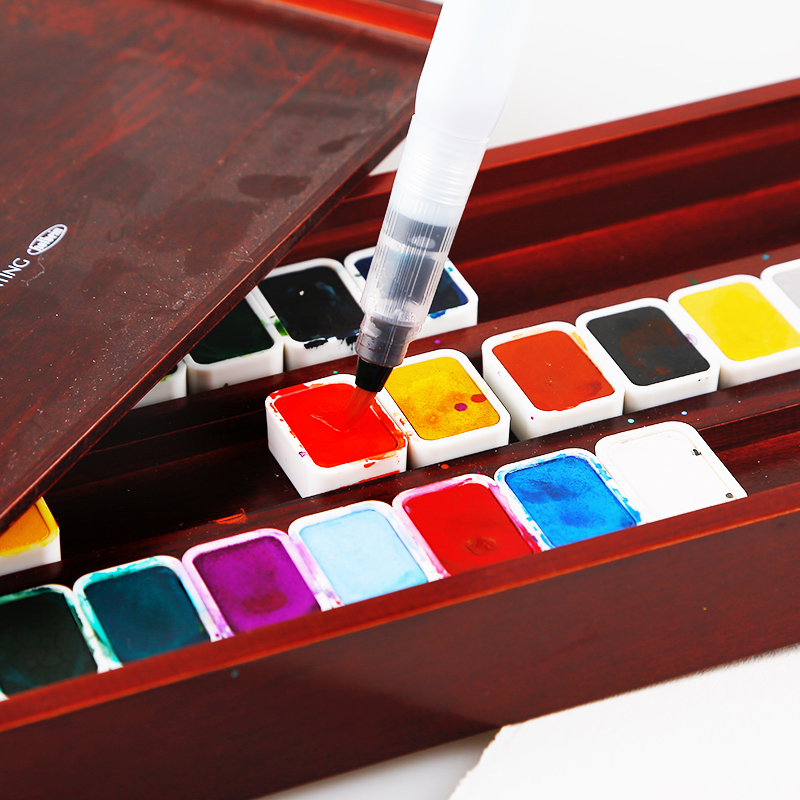 Japan Holbein  New Color 28 Colors Set 14 Color Chinese Paint Solid Watercolor Paint Watercolour Solid WatercolorJapan Holbein  New Color 28 Colors Set 14 Color Chinese Paint Solid Watercolor Paint Watercolour Solid Watercolor