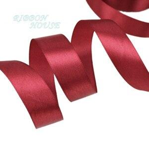 Оптовая продажа атласной ленты для вина, подарочная упаковка, рождественские ленты