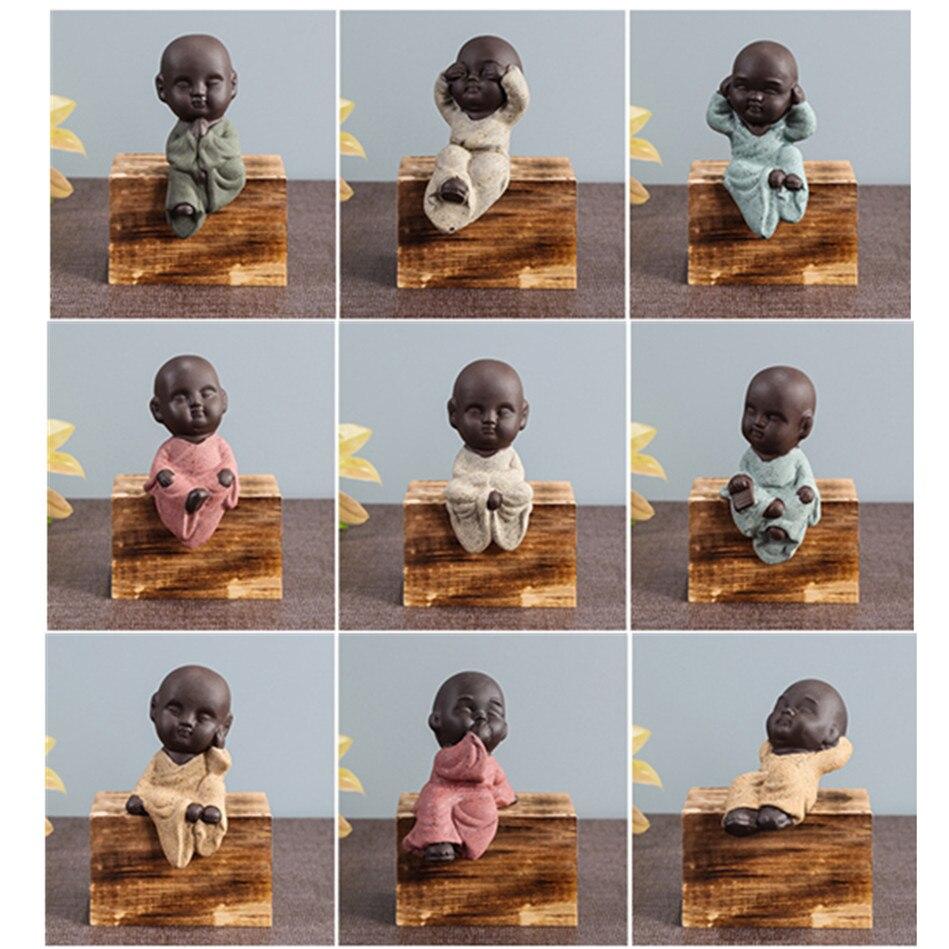 Home Decor Buddha Statuew Figurine Decoration Monk Tea Pet Accessories Garden House Decor Tathagata India Mandala