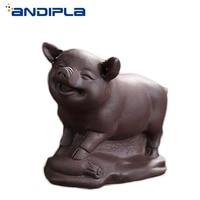 chinese yixing zisha pottery tea pet:pig