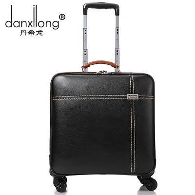 Комерційний чемодан чоловічий універсальний колеса візки багаж жіночий vintage багажу дорожня сумка м'які сумки 16 маленький багаж