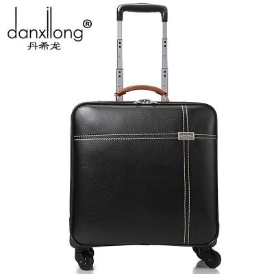 Valise commerciale homme roues universelles trolley bagage femelle vintage bagage sac de voyage sacs souples 16 petits bagages