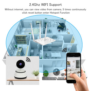 Image 3 - 720P радионяня Wi Fi IP камера Videcam детское Радио Видео няня электронная ПА Домашняя безопасность детская камера ИК для дома детский телефон