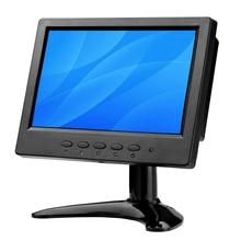 Moniteur BNC 7 pouces petit moniteur LCD/moniteur Lcd HDMI moniteur LCD Portable avec deux haut parleurs AV/BNC/VGA/HDMI/USB