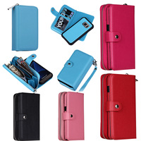 MultiFunction Zipper Wallet Purse Bag Phone Case For Samsung Galaxy S3 S4 S5 S6 S7 Edge