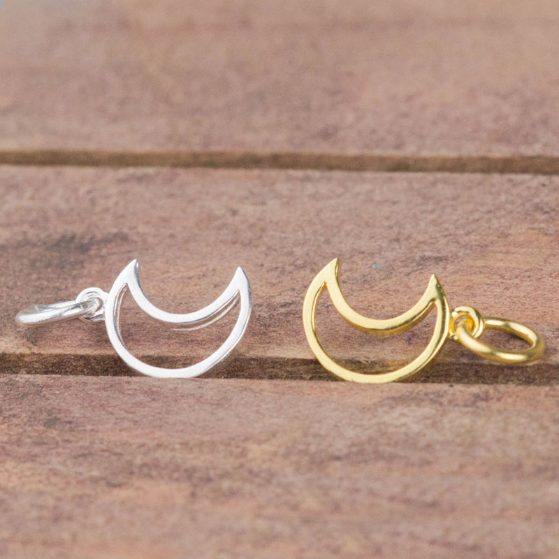 For DIY Jewelry Making Craft Silver//Gold Crescent Moon/&Star Charm Pendant 20Pcs